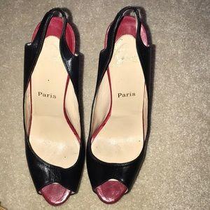 Christian Louboutin No Private Sling peep heels